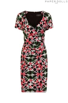 Paper Dolls Bloom Print Bodycon Dress
