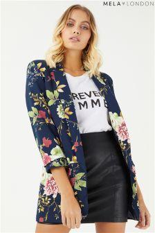 Mela London Floral Print Blazer