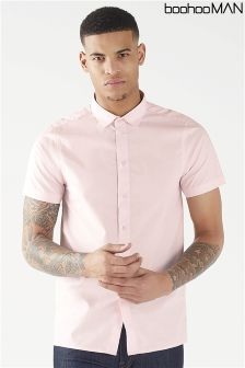 Boohoo Man Slim Fit Short Sleeve Shirt