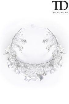 True Decadence Diamanté Leaf Hair Crown