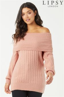 Lipsy Off The Shoulder Cable Jumper