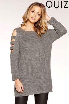 Quiz Knitted Cold Shoulder Jumper