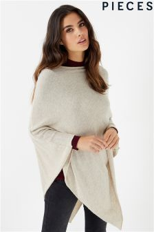 Pieces Rikki Wool Poncho