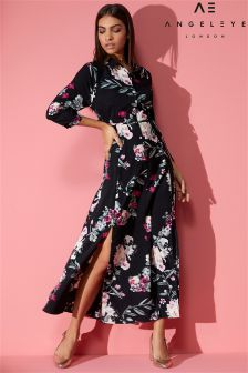 Angeleye Midi Length Floral Shirt Dress