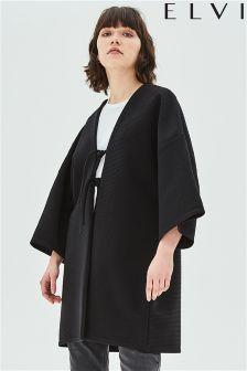 Elvi Jersey Texture Kimono With Double Ties