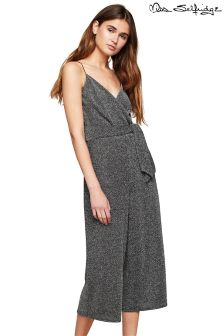 Miss Selfridge Glitter Strappy Tie Side Culotte Jumpsuit