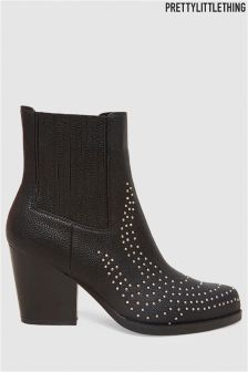 PrettyLittleThing Studded Western Style Boots