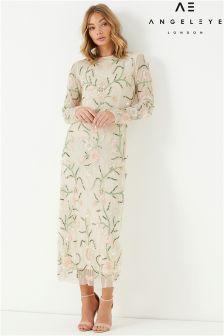 Angeleye Long Sleeve Embellished Maxi Dress
