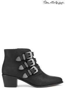 Miss Selfridge Triple Buckle Western Boots