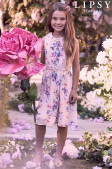 Lipsy Annabelle Printed Prom Dress
