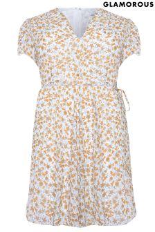 Glamorous Curve Floral Tea Dress