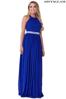Sistaglam Maxi Dress With Embellished Wasitband