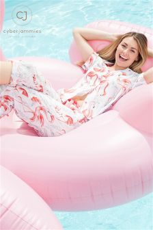 Cyberjammies Flamingo Print PJ Set