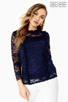 Girls On Films Lace Top