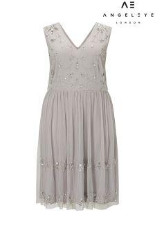 Angeleye Curve Embellished Sleeveless Dress