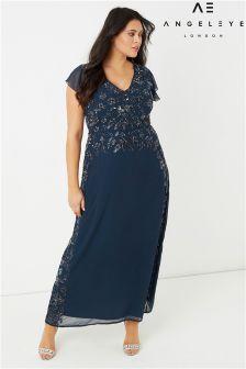 Платье макси с отделкой Angeleye