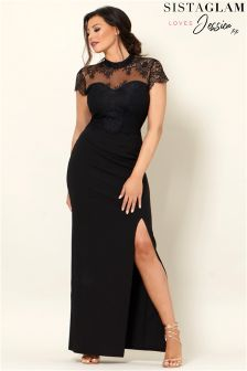 Jessica Wright Scallop Lace Maxi Dress