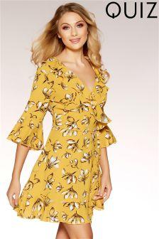 Quiz Floral Print Wrap Dress