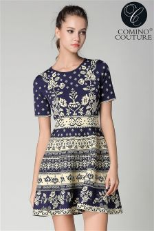 Comino Couture Knitted Skater Dress