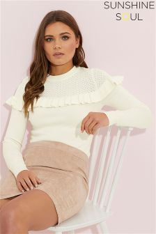 Sunshine Soul Frill Yolk Detail Jumper