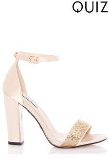 Quiz Sequin Heeled Sandals