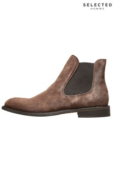 Selected Homme Chelsea Suede Boots