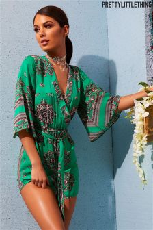 PrettyLittleThing Paisley Patterned Playsuit