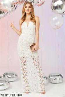 PrettyLittleThing Crochet Bandeau Maxi Dress
