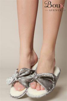 Boux Avenue Velvet Bow Slippers