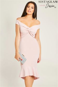 Облегающее платье с оборкой Jessica Wright