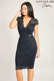 Кружевное облегающее платье с пайетками Jessica Wright
