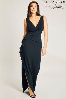 Платье макси с оборками по бокам Jessica Wright