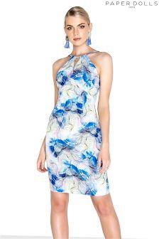 Kwiecista sukienka midi Paperdolls