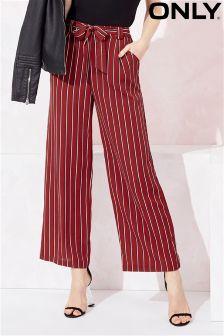 Only Wide Leg Stripe Trousers