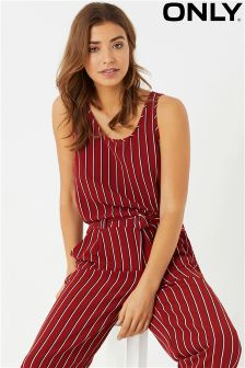 Only Sleeveless All Over Stripe Top