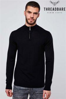 Threadbare Merino Wool 1/4 Zip Sweater