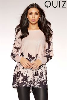 Quiz Butterfly Print Top