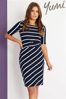 Yumi Ponte Stripe Dress