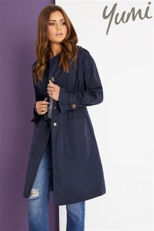 Yumi Trench Coat With Elastic Waist