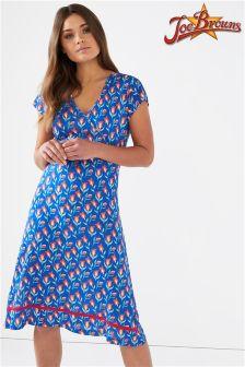 Joe Browns Cap Sleeve Jersey Wrap Dress In Floral Print