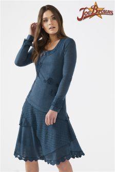 Joe Browns Womens Longsleeve Jersey Dress With Layered Skirt