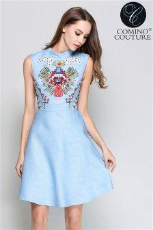 Comino Couture Vintage Diamanté & Embellished Dress