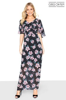 Girls On Film Printed Maxi Dress