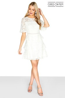 Girls On Film Lace Mini Dress