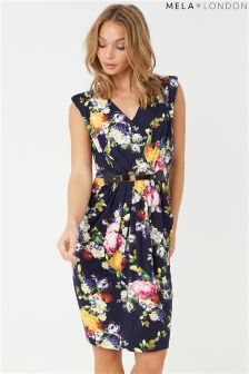 Mela London Printed Belted Dress