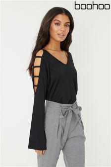 Boohoo Ladder Sleeve Knit Jumper