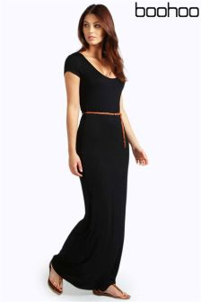 Boohoo Petite Belted Maxi Dress