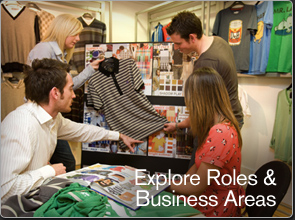 Explore Roles and Business Areas.