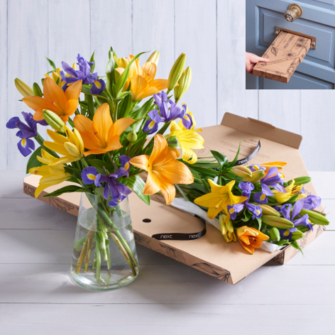Flower gift bundles flower gift sets next flowers uk letterbox bright lilies negle Images