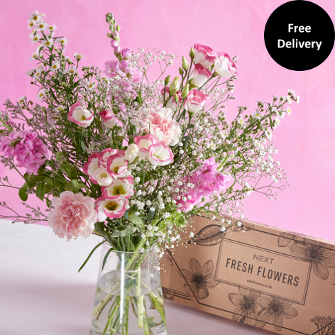 Flowers beautiful flowers delivered next flowers uk pretty in pink letterbox mightylinksfo